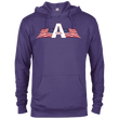 Load image into Gallery viewer, CustomCat Men's Hoodie Purple Heather / XS American Patriots Apparel Logo Delta French Terry Hoodie (11 Variants)