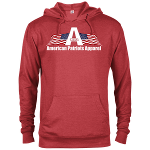 CustomCat Men's Hoodie Red Heather / X-Small American Patriots Apparel Logo With Text Delta French Terry Hoodie (11 Variants)