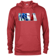 Load image into Gallery viewer, CustomCat Men's Hoodie Red Heather / X-Small USA Statue of Liberty Delta French Terry Hoodie (11 Variants)