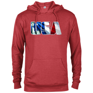 CustomCat Men's Hoodie Red Heather / X-Small USA Statue of Liberty Delta French Terry Hoodie (11 Variants)