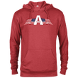 Load image into Gallery viewer, CustomCat Men's Hoodie Red Heather / XS American Patriots Apparel Logo Delta French Terry Hoodie (11 Variants)