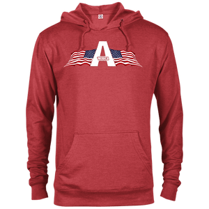CustomCat Men's Hoodie Red Heather / XS American Patriots Apparel Logo Delta French Terry Hoodie (11 Variants)