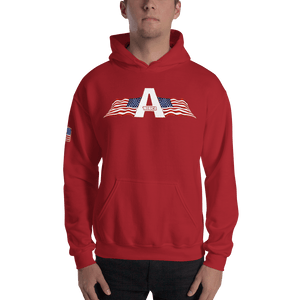 American Patriots Apparel Men's Hoodie Red / S American Patriots Apparel Logo Hoodie With Reverse Side Flag on Right Sleeve (8 Variants)