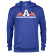 Load image into Gallery viewer, CustomCat Men's Hoodie Royal Heather / X-Small American Patriots Apparel Logo With Text Delta French Terry Hoodie (11 Variants)