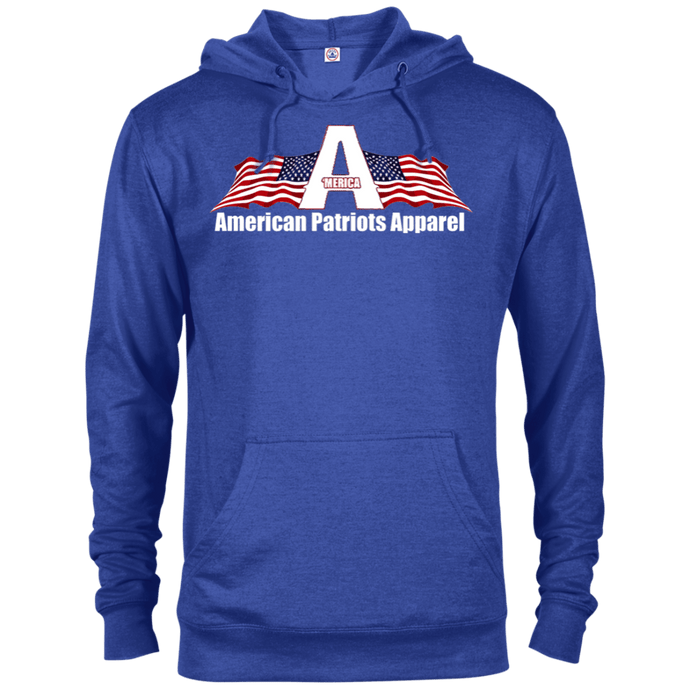 CustomCat Men's Hoodie Royal Heather / X-Small American Patriots Apparel Logo With Text Delta French Terry Hoodie (11 Variants)