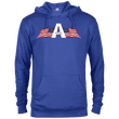 Load image into Gallery viewer, CustomCat Men's Hoodie Royal Heather / XS American Patriots Apparel Logo Delta French Terry Hoodie (11 Variants)