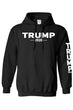Load image into Gallery viewer, American Patriots Apparel Men's Hoodie Trump 2020 (Front and Left Sleeve) Pullover Hoodie (2 Variants)