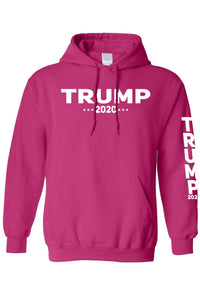 American Patriots Apparel Men's Hoodie Trump 2020 (Front and Left Sleeve) Pullover Hoodie (2 Variants)