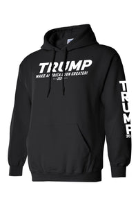 American Patriots Apparel Men's Hoodie Trump Make America Even Greater 2020 Pullover Hoodie With Trump On Left Sleeve (2 Variants)