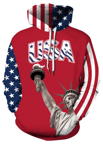 Right Wing Gear Men's Hoodie USA Trump 45 Pullover Hoodie