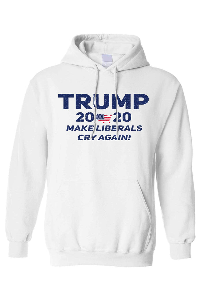 American Patriots Apparel Men's Hoodie White / 4XL / FRONT Trump 2020 Make Liberals Cry Again Pullover Hoodie (4 Variants)