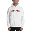 Load image into Gallery viewer, American Patriots Apparel Men's Hoodie White / S American Patriots Apparel Logo Hoodie With Reverse Side Flag on Right Sleeve (8 Variants)
