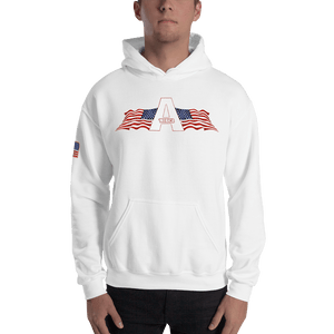 American Patriots Apparel Men's Hoodie White / S American Patriots Apparel Logo Hoodie With Reverse Side Flag on Right Sleeve (8 Variants)