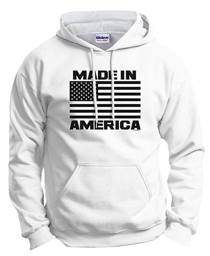 ThisWear Men's Hoodie White / S Flag Made in America Patriotic Hoodie (6 Variants)