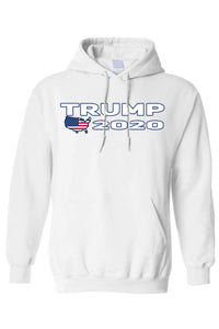 American Patriots Apparel Men's Hoodie White / XXL / FRONT Trump USA 2020 Pullover Hoodie (4 Variants)