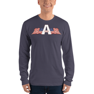 American Patriots Apparel Men's Long Sleeve Shirt Asphalt / S American Patriots Apparel Logo Long Sleeve T-Shirt (4 Variants)