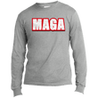 Load image into Gallery viewer, CustomCat Men's Long Sleeve Shirt Athletic Heather / S MAGA Long-Sleeve T-Shirt (8 Variants)