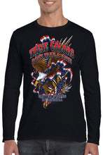 Load image into Gallery viewer, American Patriots Apparel Men's Long Sleeve Shirt Black / 3XL / FRONT These Colors Don't Take A Knee United States of America Long Sleeve Shirt (6 Variants)