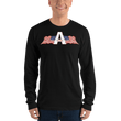 Load image into Gallery viewer, American Patriots Apparel Men's Long Sleeve Shirt Black / S American Patriots Apparel Logo Long Sleeve T-Shirt (4 Variants)