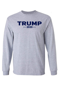 American Patriots Apparel Men's Long Sleeve Shirt Grey / 5XL / FRONT Trump 2020 Long-Sleeve Shirt (2 Variants)