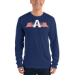 Load image into Gallery viewer, American Patriots Apparel Men's Long Sleeve Shirt Navy / S American Patriots Apparel Logo Long Sleeve T-Shirt (4 Variants)