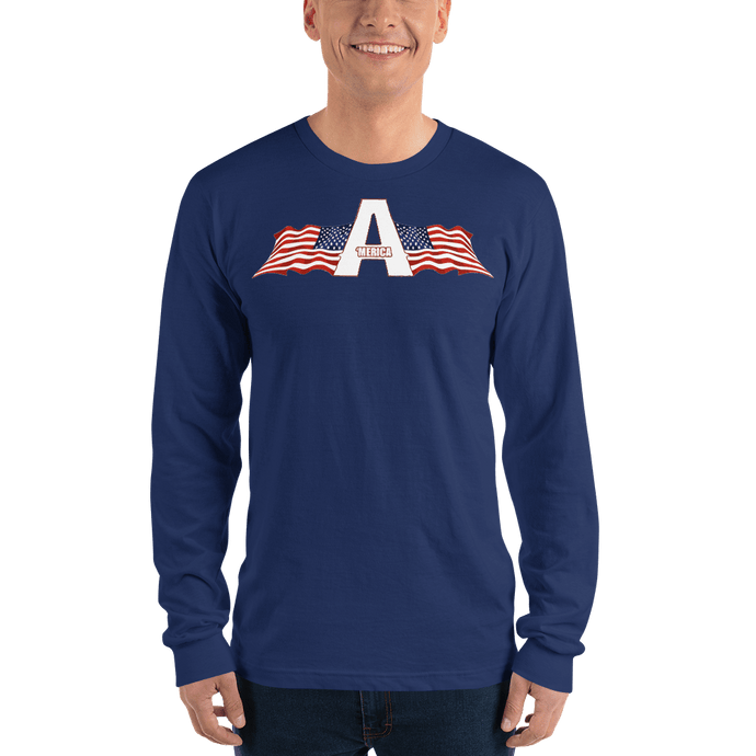 American Patriots Apparel Men's Long Sleeve Shirt Navy / S American Patriots Apparel Logo Long Sleeve T-Shirt (4 Variants)