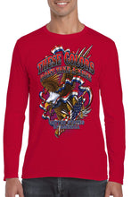 Load image into Gallery viewer, American Patriots Apparel Men's Long Sleeve Shirt Red / 4XL / FRONT These Colors Don't Take A Knee United States of America Long Sleeve Shirt (6 Variants)