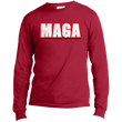 Load image into Gallery viewer, CustomCat Men's Long Sleeve Shirt Red / S MAGA Long-Sleeve T-Shirt (8 Variants)