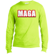 Load image into Gallery viewer, CustomCat Men's Long Sleeve Shirt Safety Green / S MAGA Long-Sleeve T-Shirt (8 Variants)