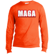 Load image into Gallery viewer, CustomCat Men's Long Sleeve Shirt Safety Orange / S MAGA Long-Sleeve T-Shirt (8 Variants)