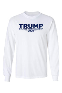 American Patriots Apparel Men's Long Sleeve Shirt White / 3XL / FRONT Trump Drain the Swamp 2020 Long Sleeve Shirt (2 Variants)
