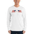 Load image into Gallery viewer, American Patriots Apparel Men's Long Sleeve Shirt White / S American Patriots Apparel Logo Long Sleeve T-Shirt (4 Variants)