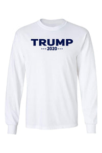 American Patriots Apparel Men's Long Sleeve Shirt White / XLARGE / FRONT Trump 2020 Long-Sleeve Shirt (2 Variants)