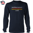 Load image into Gallery viewer, Print Brains Men's Long Sleeve T-Shirt Josh Bernstein Uncensored - If It's Banned You'll Find It Here Long-Sleeve T-Shirt (4 Variants)
