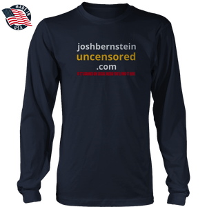 Print Brains Men's Long Sleeve T-Shirt Navy / S / Port & Co US Made Cotton Long Sleeve Crew Josh Bernstein Banned & Uncensored V1 Long-Sleeve T-Shirt (8 Variants)