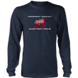 Load image into Gallery viewer, Print Brains Men's Long Sleeve T-Shirt Port & Co US Made Cotton Long Sleeve Crew / Navy / S Rampant Donkey Election Fraud 2020 Long-Sleeve (8 Variants)