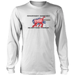 Load image into Gallery viewer, Print Brains Men's Long Sleeve T-Shirt Port & Co US Made Cotton Long Sleeve Crew / White / S Rampant Donkey Election Fraud 2020 Long-Sleeve (8 Variants)