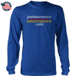 Load image into Gallery viewer, Print Brains Men's Long Sleeve T-Shirt Royal Blue / S / Port & Co US Made Cotton Long Sleeve Crew Josh Bernstein Uncensored - If It's Banned You'll Find It Here Long-Sleeve T-Shirt (4 Variants)