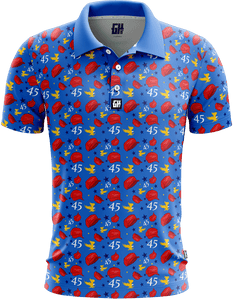 Print Brains Men's Polo Shirts Keep America Great Golf Polo