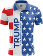 Load image into Gallery viewer, Greater Half Men's Polo Shirts S / Red/White/Blue Keep America Great Golf Polo