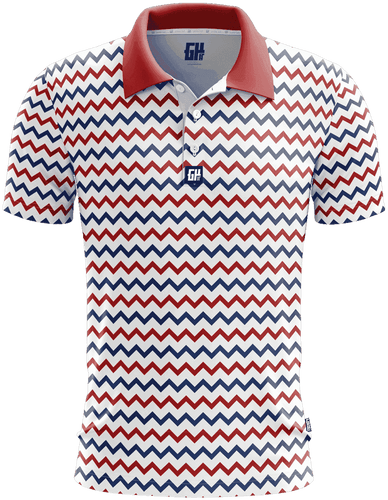 Greater Half Men's Polo Shirts S / Red/White/Blue Ziggy Golf Polo