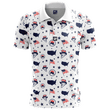 Load image into Gallery viewer, Print Brains Men's Polo Shirts Uncle Sammy's Golf Polo / White / S Uncle Sammy's Golf Polo