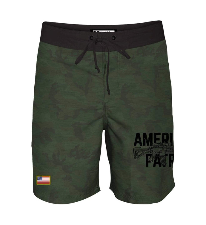 Howitzer Clothing Men's Shorts Military Green Camo / 30 Eagle Keeper Boardshort