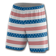 Load image into Gallery viewer, Print Brains Men's Shorts Old Glory Stripes Shorts / White / S Old Glory Stripes Shorts