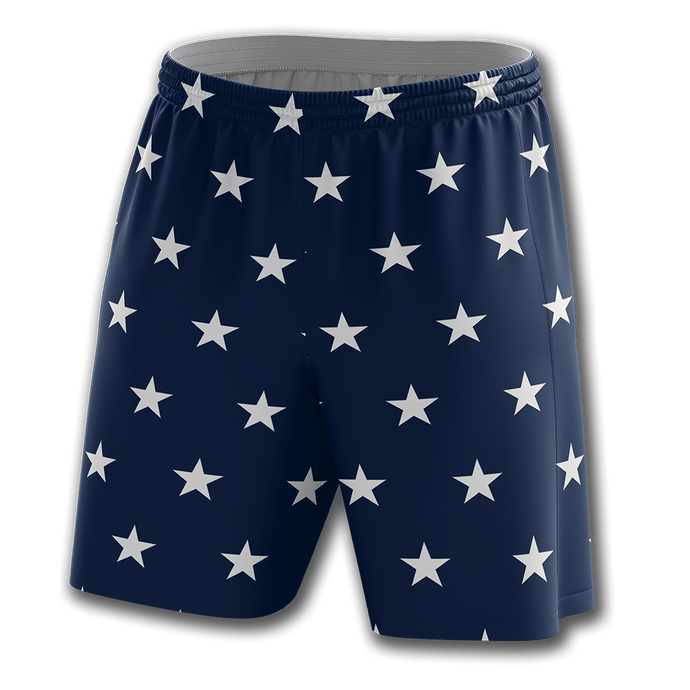 Print Brains Men's Shorts Stars Shorts / Navy / S Stars Shorts