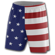 Load image into Gallery viewer, Print Brains Men's Shorts USA Flag Shorts / White / S USA Flag Shorts