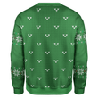Load image into Gallery viewer, Greater Half Men's Sweater Santa Trump Smirking Christmas Sweater