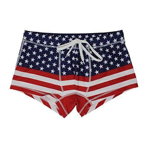 5th Industry Men's Swimsuit American Flag / XL American Flag Mens Swim Brief Square Leg Swimsuit