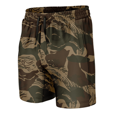 Print Brains Men's Swimsuit Brushstroke Camo Swim Trunks / Camo / S Brushstroke Camo Swim Trunks