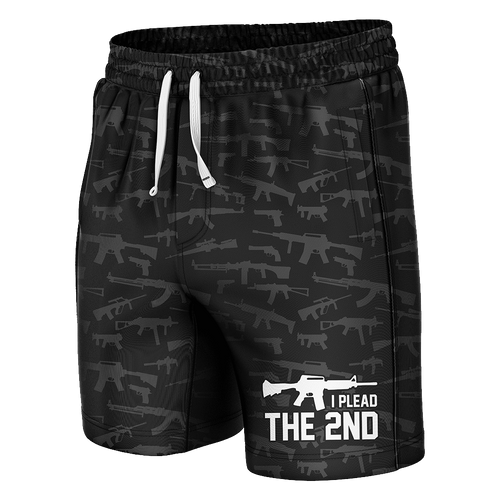 Print Brains Men's Swimsuit Plead The 2nd Swim Trunks / Black / S Plead The 2nd Swim Trunks